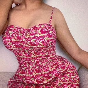 American Eagle Outfitters pink floral dress
